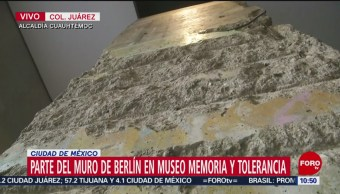 FOTO: México conserva una parte del Muro de Berlín, 9 noviembre 2019