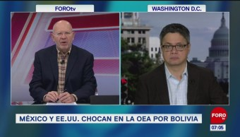 México y EU chocan en la OEA por Bolivia