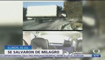 Foto: Milagro en una carretera congelada