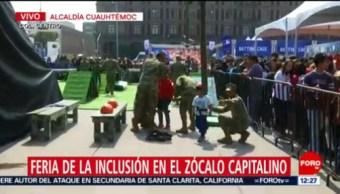 FOTO: Miles de personas se dan cita a la Feria de la Inclusión en el Zócalo, 16 noviembre 2019