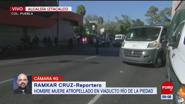 Muere hombre atropellado cerca del Metro Puebla en CDMX