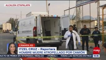 FOTO: Muere hombre atropellado Iztapalapa,