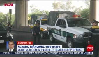 FOTO: Muere motociclista en Periférico, CDMX, 16 noviembre 2019