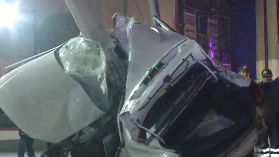 Foto: Muere una persona en choque automovilístico en Edomex