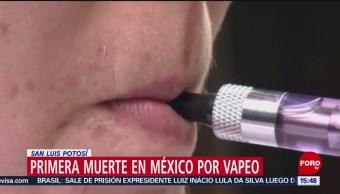 FOTO: Muerte por vapeo en San Luis Potosí, 9 noviembre 2019