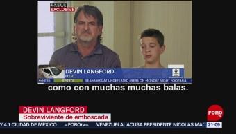 FOTO: Niño LeBarón narra el ataque que sufrió su familia en Sonora, 11 noviembre 2019
