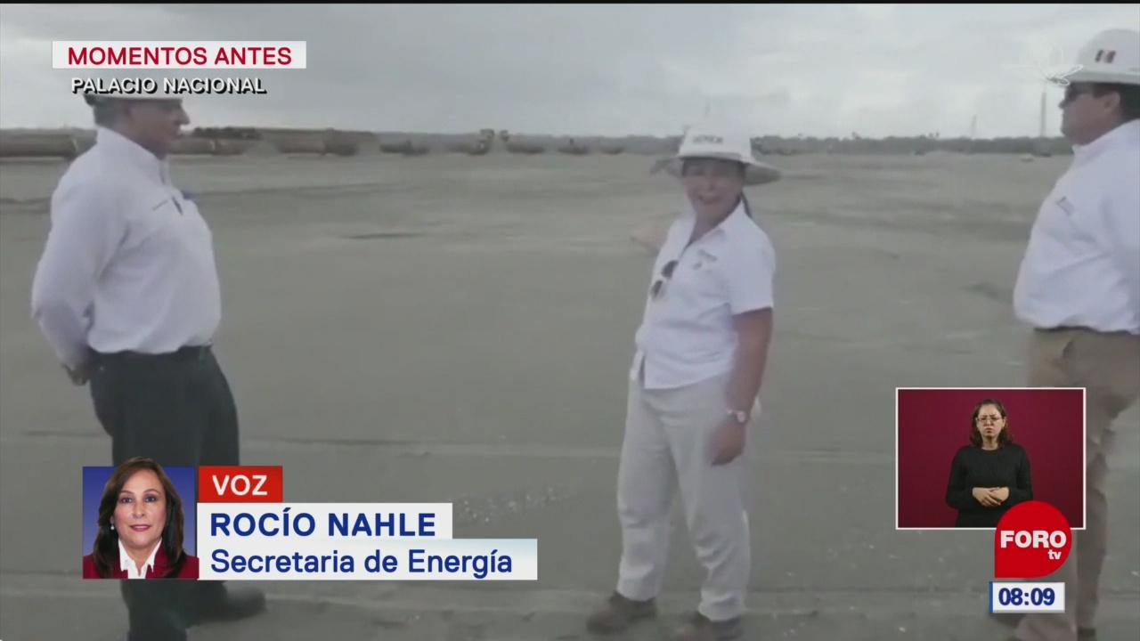 No hay inundación en Dos Bocas, afirma Nahle en video presentado por AMLO