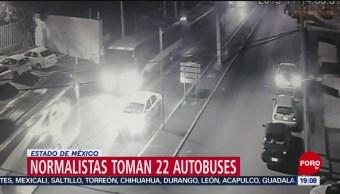 FOTO: Normalistas toman 22 autobuses en Estado de México, 14 noviembre 2019