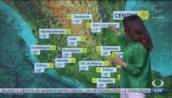 Norte, noreste y oriente de México mantendrán ambiente frío