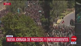 Nueva jornada de protestas en Chile