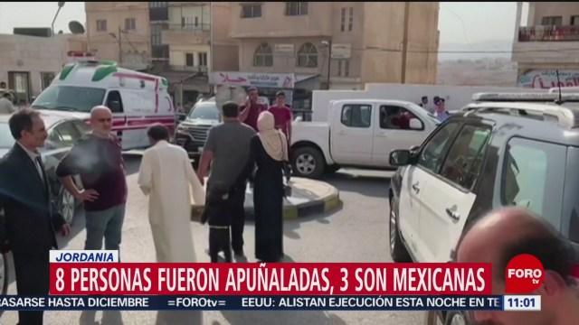 Ocho personas fueron apuñaladas en Jordania; 3 son mexicanas