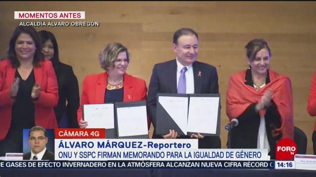 Foto: ONU SSPC firman memorando para igualdad género