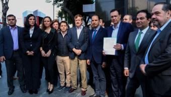 Foto: Panistas presentan denuncia por espionaje durante el proceso de elección de la titular de la Comisión Nacional de Derechos Humanos (CNDH), el 11 de noviembre de 2019 (Foto: Galo Cañas /Cuartoscuro.com)