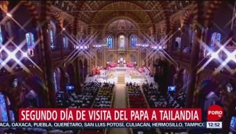 Papa Francisco preside misa en la Catedral de la Asunción de Bangkok