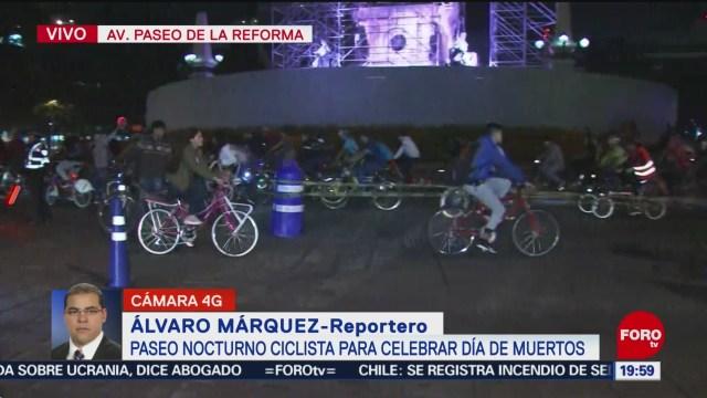 FOTO: Paseo Ciclista del Día de Muertos en Paseo de la Reforma, 9 noviembre 2019