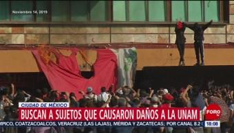FOTO: PGJCDMX busca a sujetos que dañaron la UNAM, 18 noviembre 2019