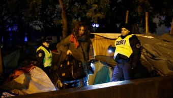 Foto: Policía francesa desmantela campamentos de migrantes, 7 de noviembre de 2019