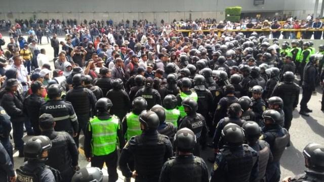 Foto: Al menos 32 policías capitalinos resultaron lesionados tras el enfrentamiento con federales en el AICM, el 12 de noviembre de 2019 (Samuel Servín)