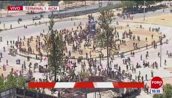 Policías federales bloquean acceso al AICM