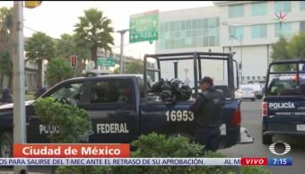 Policías Federales rodean el Palacio de San Lázaro