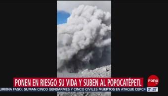 Foto: Video Alpinista Suben Volcán Popocatépetl Graban Cráter Fumarola 4 Noviembre 2019