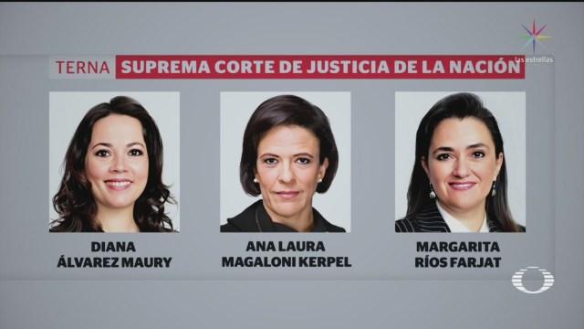 Foto: Presentan Nombres Candidatas Ministra Scjn 22 Noviembre 2019