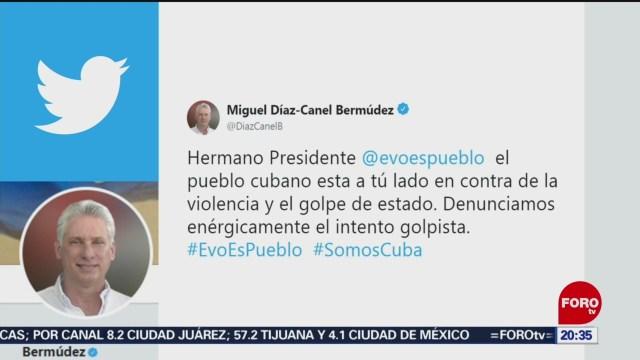 FOTO: Presidente de Cuba apoya a Evo Morales, 9 noviembre 2019