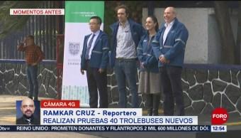 Foto: Prueban 40 Nuevas Unidades Trolebús CDMX,