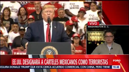 Foto: Trump Cárteles Mexicanos Terroristas 26 Noviembre 2019