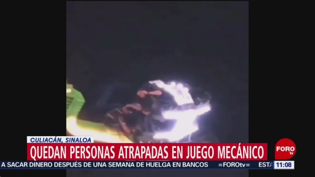 Foto: Quedan atrapadas personas juego mecánico Culiacán Sinaloa