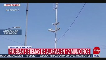 Foto: Prueba Audio Sistemas Alarma Estado De México 7 Noviembre 2019