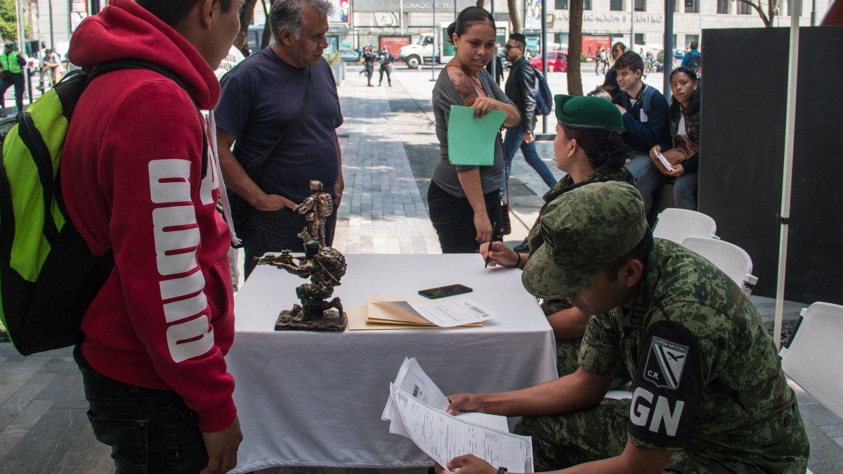 Reclutamiento a la Guardia Nacional