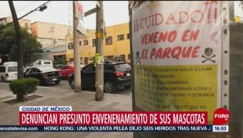 FOTO: Reportan casos mascotas envenenadas parques CDMX,