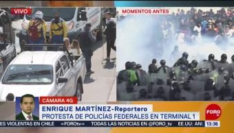 FOTO: Reportero narra síntomas por gas pimienta policias federales,