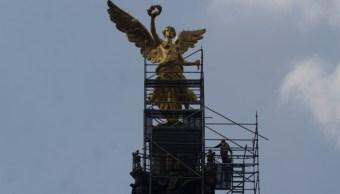 Foto: Continua el mantenimiento y restauración del Ángel de la independencia, 21 noviembre 2019