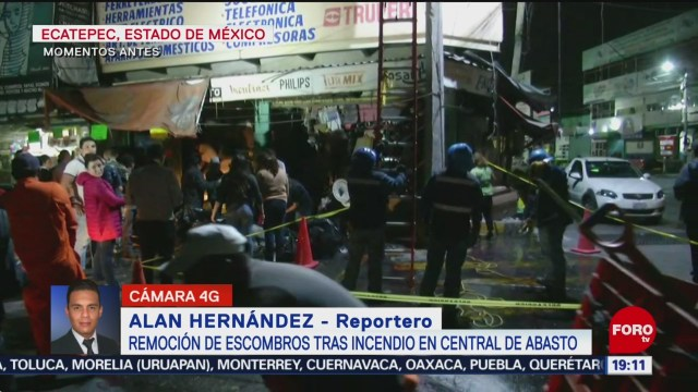 Foto: Incendio Central Abasto Ecatepec Retiran Escombros Hoy 20 Noviembre 2019