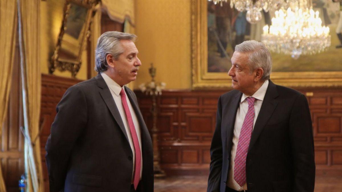 Reunión AMLO y Alberto Fernández