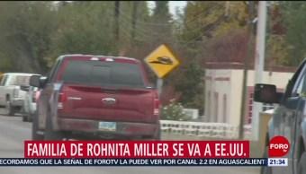 FOTO: Sale de Chihuahua familia de Ronitha tras ataque contra familia LaBarón, 10 noviembre 2019