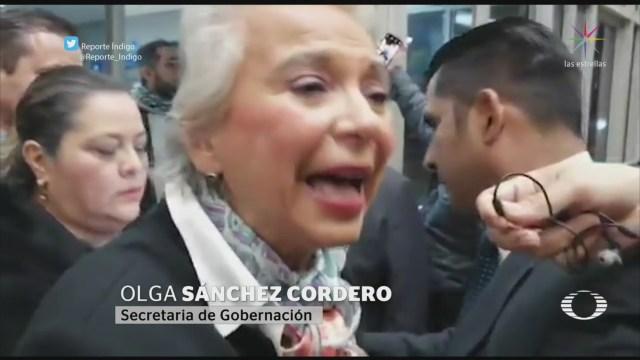 Foto: Sánchez Cordero Polémica Toma Protesta Jaime Bonilla 1 Noviembre 2019