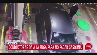 Foto: Video Se Da A La Fuga Para No Pagar Gasolina,