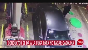 Foto: Video Se Da A La Fuga Para No Pagar Gasolina,