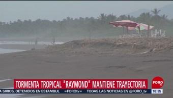 FOTO:Se forma la tormenta tropical 'Raymond' en costas de Colima, 15 noviembre 2019