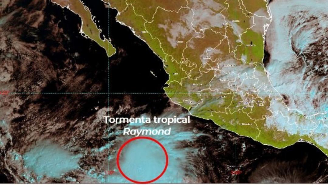 """IMAGEN Se forma la tormenta tropical """"Raymond"""", se acerca a BCS (Conagua)"""
