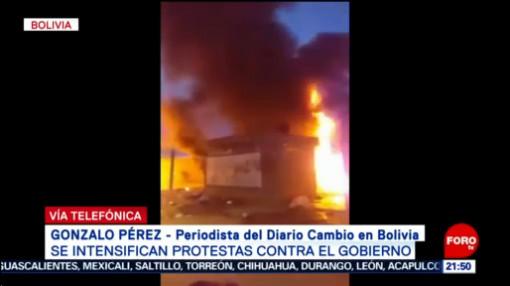 FOTO:Se intensifican protestas contra gobierno de Evo Morales en Bolivia, 9 noviembre 2019