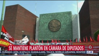 Foto: Plantón Campesinos Cámara Diputados 19 Noviembre 2019
