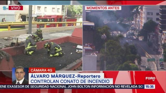 FOTO: Se registra conato de incendio cerca de la Glorieta de los Insurgentes, 9 noviembre 2019