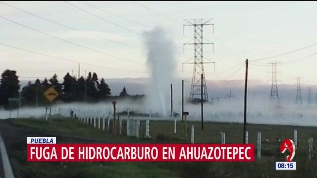 Se registra fuga de hidrocarburo en Ahuazotepec, en Puebla