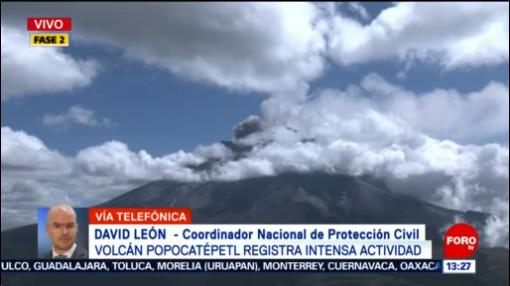 FOTO: Se registran tres exhalaciones en el Popocatépetl, 9 noviembre 2019