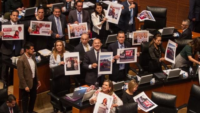 Imagen: En conferencia de prensa, aseguraron que está en juego la honorabilidad del Senado y la legitimidad de la presidencia de la CNDH
