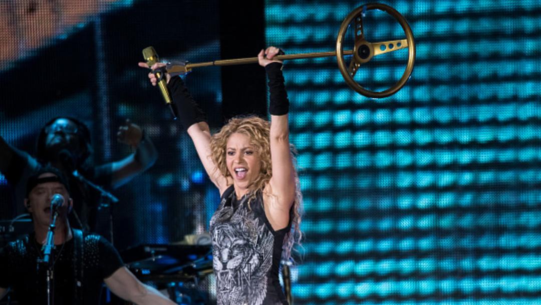 """Imagen: El mes pasado, Shakira lanzó el remix de la canción """"Tutu"""" del colombiano Camilo y el puertorriqueño Pedro Capó, y desde entonces no ha parado, 5 de noviembre de 2019 (Getty Images, archivo)"""
